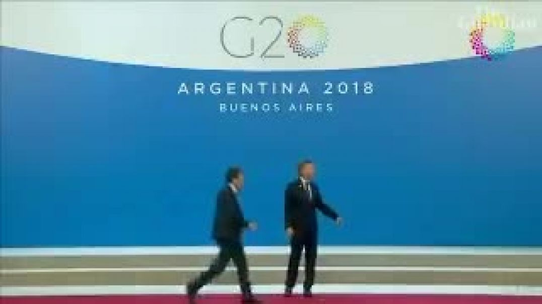 Trump just wandered off the stage, leaving the Argentinian president looking bewildered