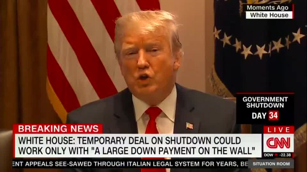 Trump: The grocery store will float you the food on credit until the shutdown is over. That's how it works.