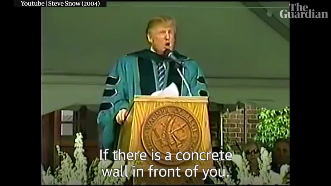 'If there is a wall in front of you, go through it,' says Trump in 2004 speech