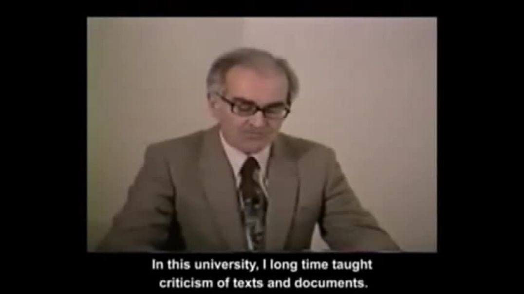 Robert Faurisson  The Problem Of Gas Chambers - Le Probleme Des Chambres a Gaz.FRA avec ENG SUB