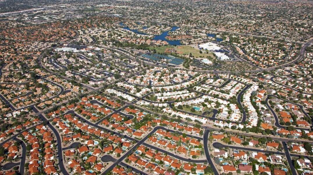 The problem with urban sprawl. Bad Urban design.