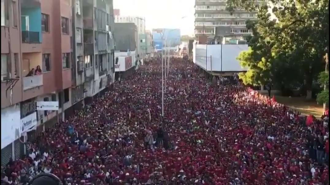 100s of thousand protest for Maduro in Venezuela, what the western mainstream media wont show you