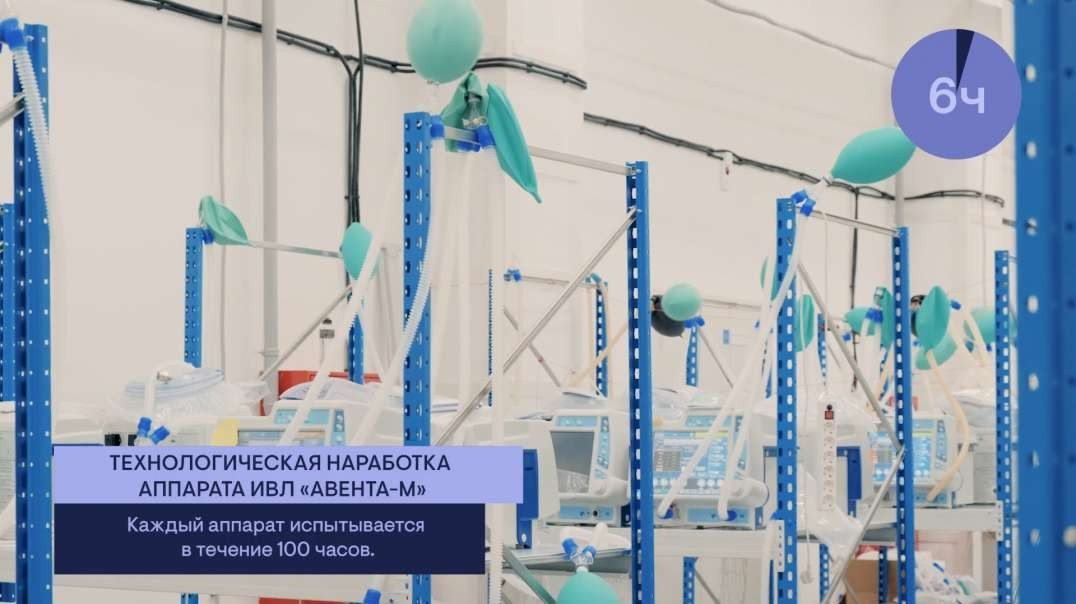 Inside in one of Russia's ventilator factories. More Russian medical Equipment made and tested.