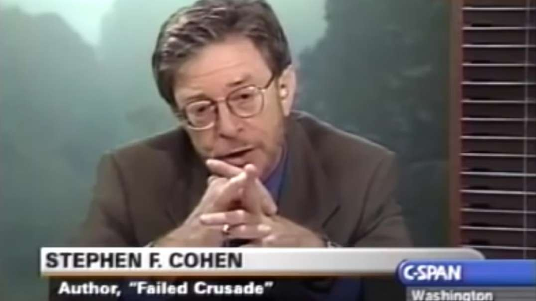 (2001) Stephen Cohen Interview: Failed Crusade Book, Early Bush Policies To Russia And Afghanistan