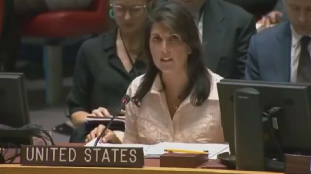 Nikki Haley walks out of UN during Palestine Speaker, Americas evil and disrespectful behavior in UN