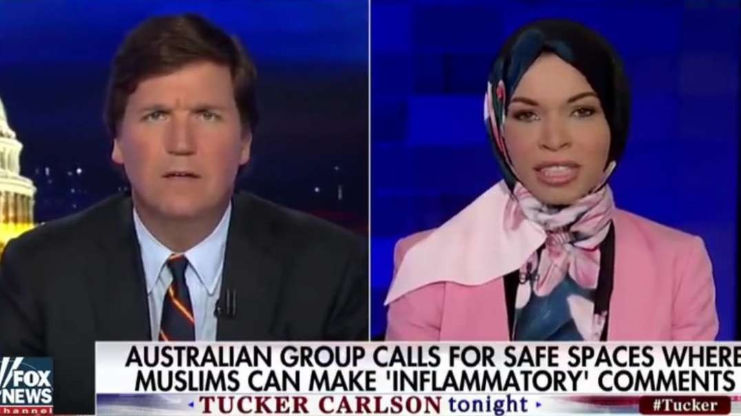 Tucker Carlson enquires why muslims are asking for safe spaces. Great ending!