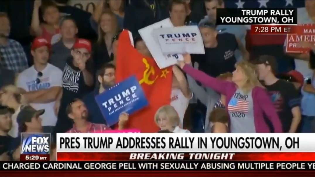 Guy gets arrested for waving the Soviet Flag during Trumps speech, the right loves free speech?