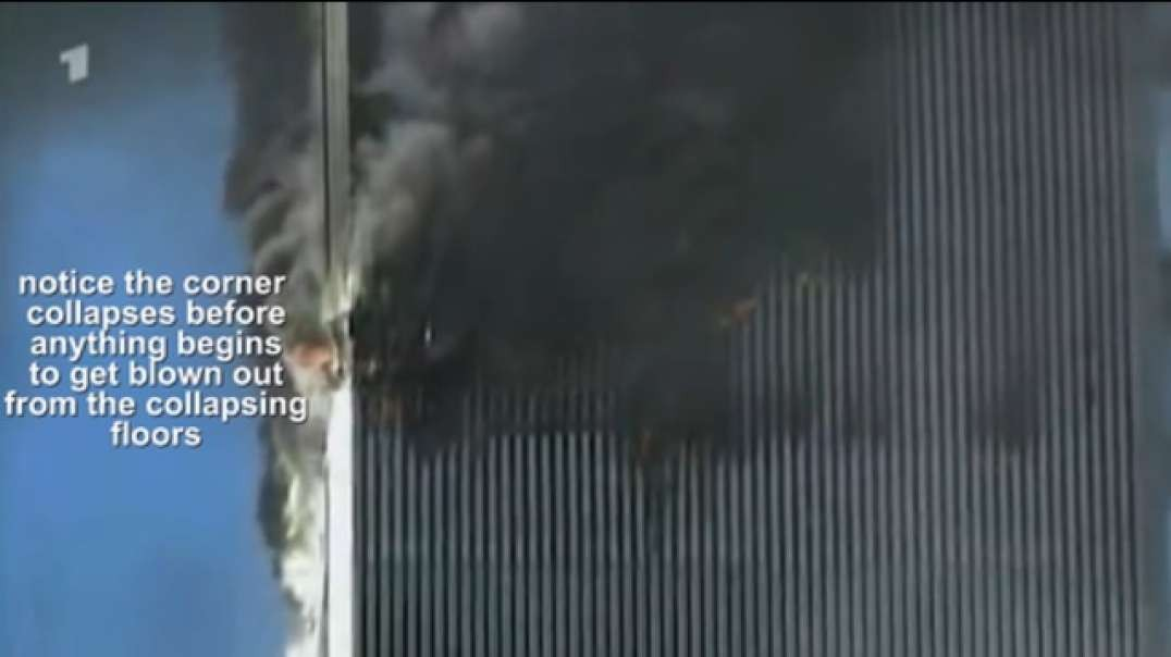 WTC 2 collapse from close up shows no signs of ejection of debris at the moment of collapse