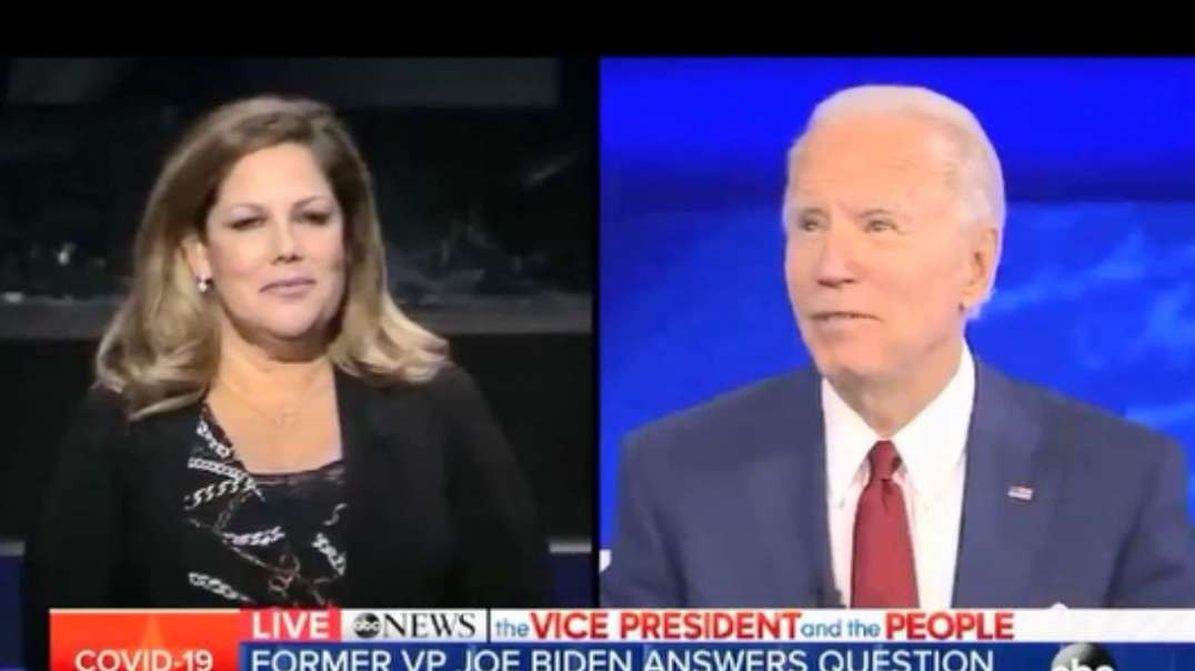 Biden replies to 1 of only 2 audience members, as the wide-shot revealed. Sad/lonley Biden, part 4.