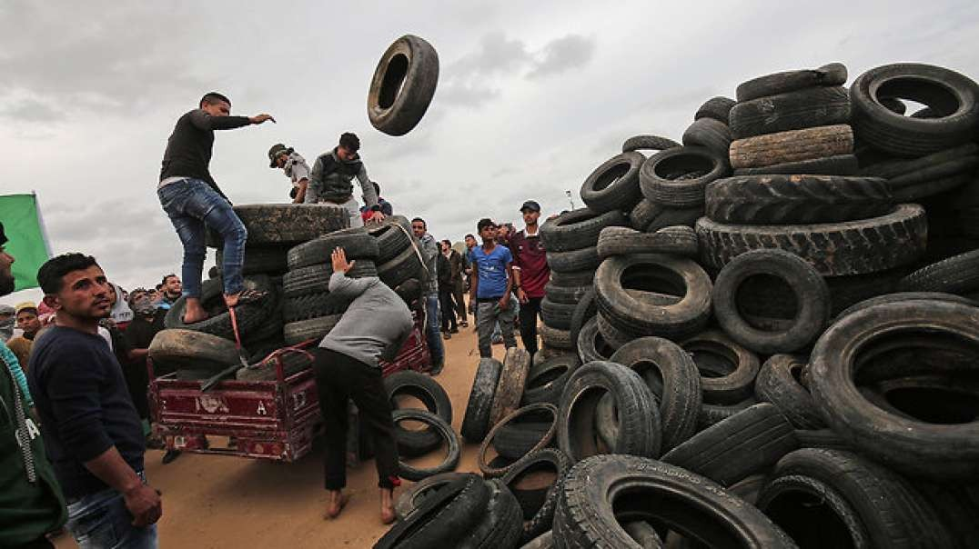 Palestinians Tire Tactic