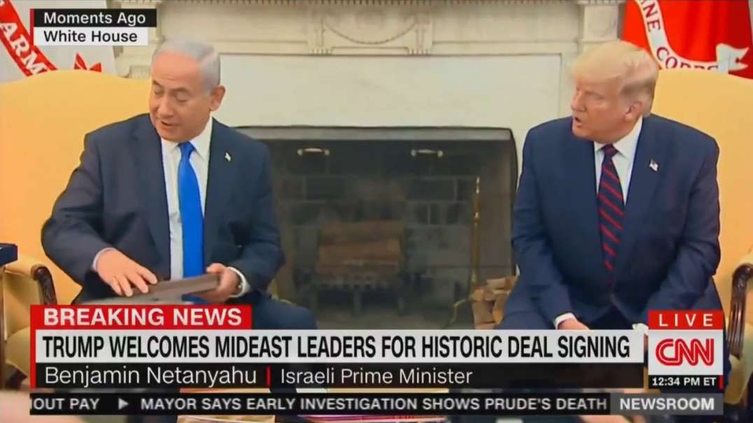 Trump Literally Gives Netanyahu the 'Key to the White House'