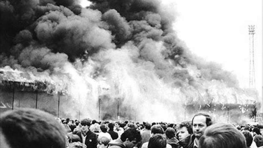 Bradford-City-Valley-Parade-stadium-fire-footage - when police were heroic unlike today // May cause distress