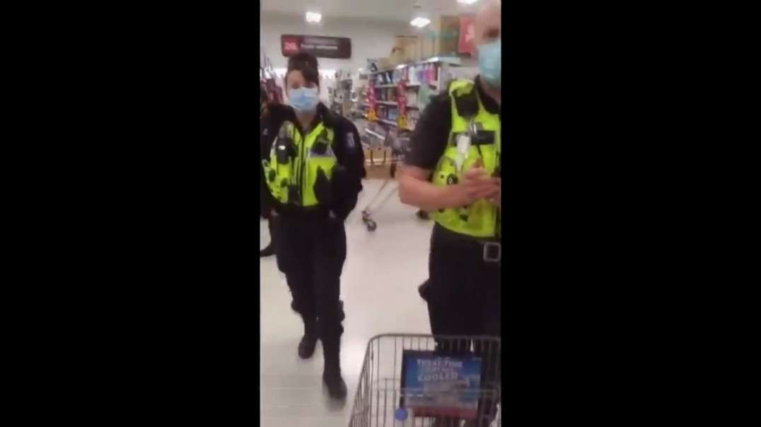 #Police Harass Shopper & Demand He Leaves Store   They THREATEN ARREST For NO Mask??? Police have spent years recruiting the left