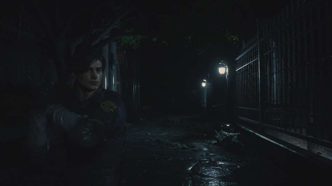 RACOON CITY Rain Sounds - Relaxing RESIDENT EVIL 2 Ambience