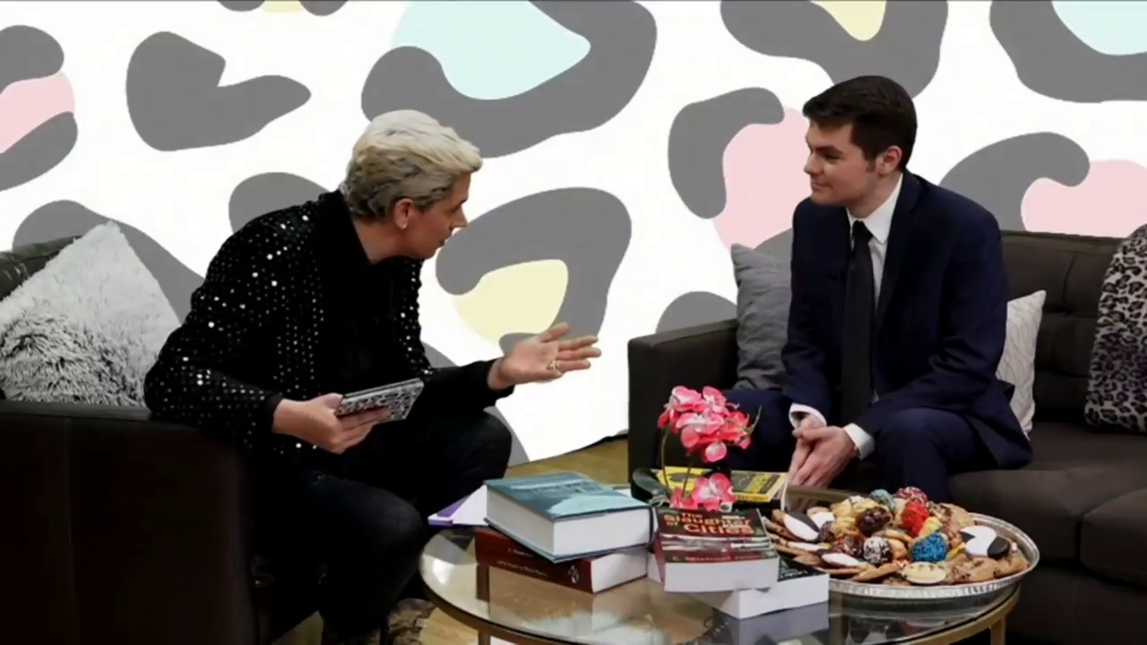 Deradicalizer Nick Fuentes explains to his Jewish faggot pedophile friend Milo how he is able to remove the more militant groypers that condemn sodomy from his following
