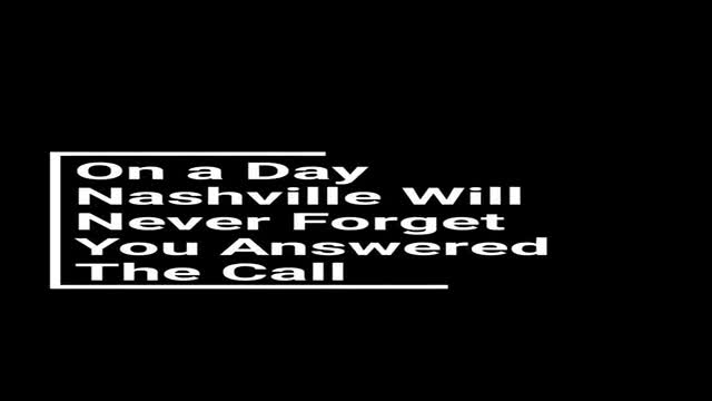 Thank you video put out by Nashville Fire Department thanking first responders, showing damage.