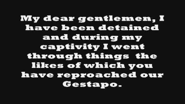 The Allied Torture of Julius Streicher in His Own Words - April 1946