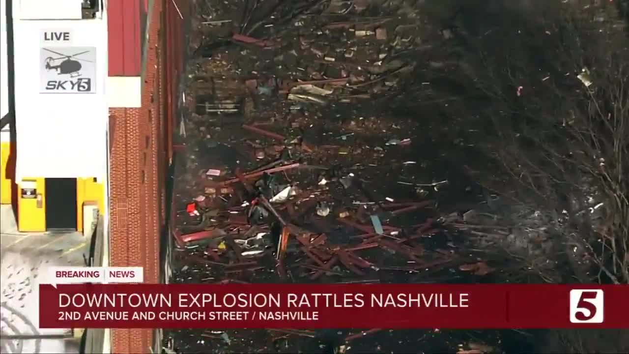 """Explosion in downtown Nashville was an """"intentional bombing incident,"""" according to emergency officials"""