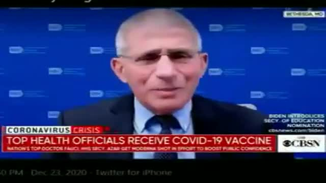 """Dr.Fauci """"vaccinated"""" his left arm but feels pain in the right arm"""