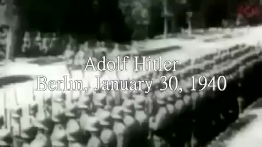 Adolf Hitler Speech in Berlin, January 30, 1940 - Our Enemies Today Face The Entire German Volk
