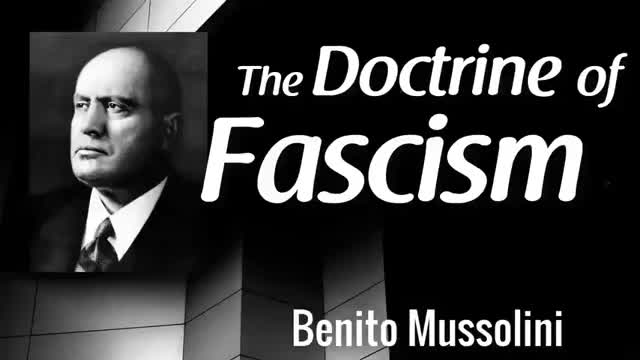 The Doctrine of Fascism Benito Mussolini [audiobook]
