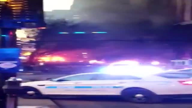 Video from a witness of the explosion in Downtown Nashville. This is the aftermath of the blast. You can see something in the distance is on fire, a lot of smoke, debris & broken glass. Investigators are still trying to determine a motive.
