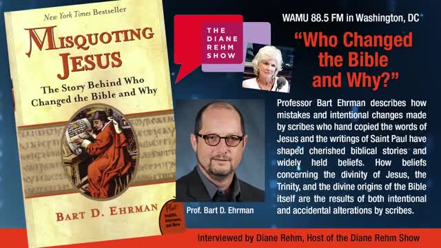 Diane Rehm Show - Who Changed the Bible & Why?
