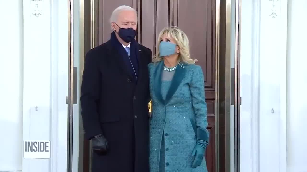 Genius Joe Biden and family was stuck outside of the White House after firing President Trump's doorman just hours earlier.  😂