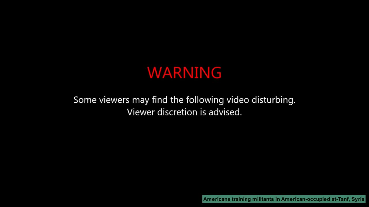 (Archive) Americans training terrorists in American-occupied at-Tanf area, Syria