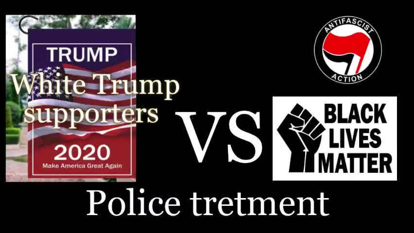 Police and Media Treatment: Trump supporters vs BLM/Antifa - Who's behind the U.S. police force? by Aaron Kasparov