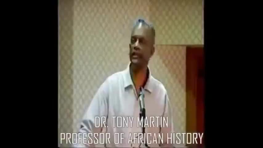 Dr. Tony Martin - Jewish role in the slave trade.
