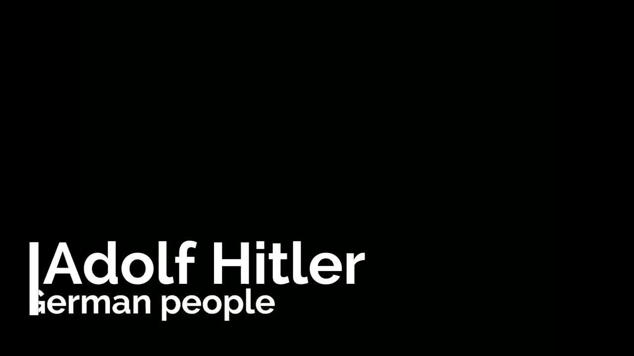 Adolf Hitler and the German People