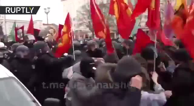 Today in Berlin, a march of communists and anti-fascists took place to remember the anniversary of the murders of Rosa Luxemburg and Karl Liebknecht