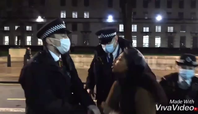 ZOG PIGS do something right for once / BLM gobshite activist  Sasha Johnson has just been arrested in London