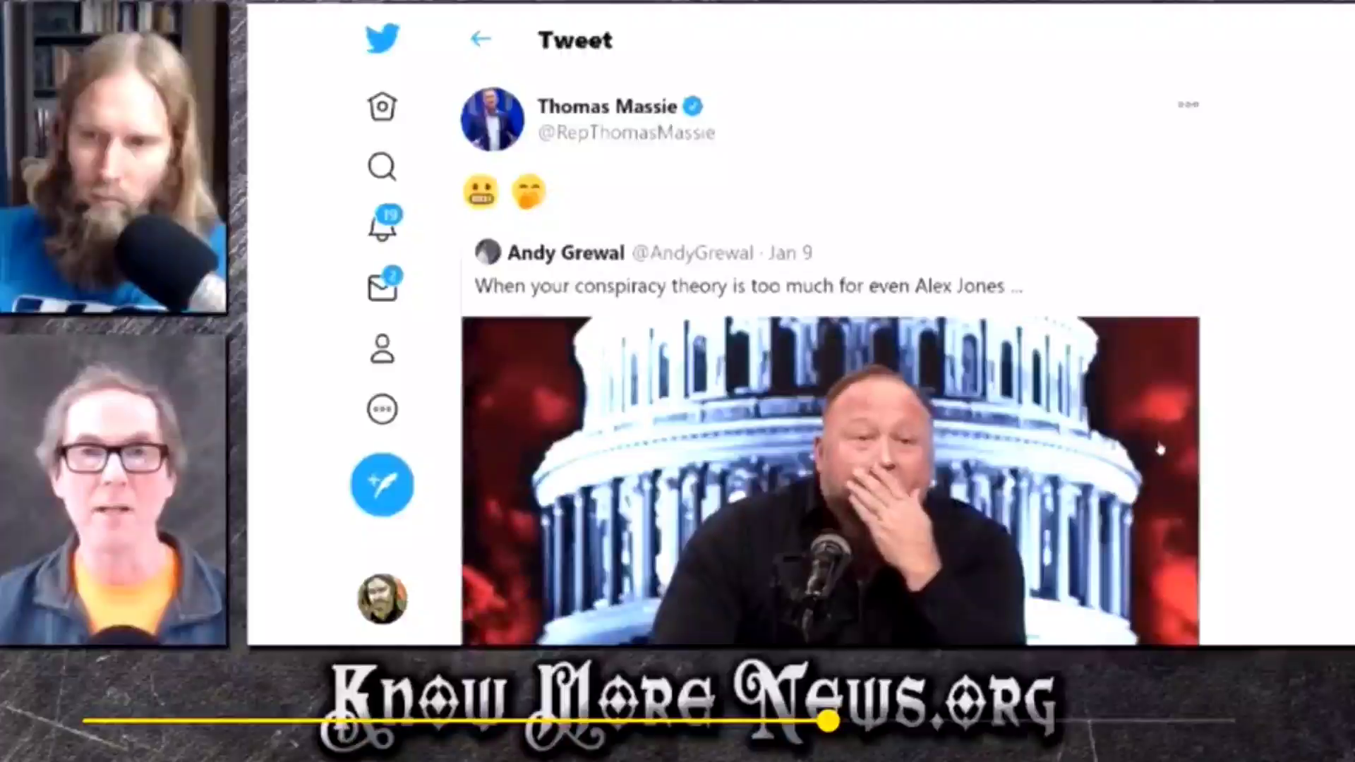 (((Christopher John Bjerknes))) The Kike who called Jesus a demon and who spewed the rhetoric of Hitler being a Jewish agent snaps on Adam Green for not agreeing with him on the Jewflu