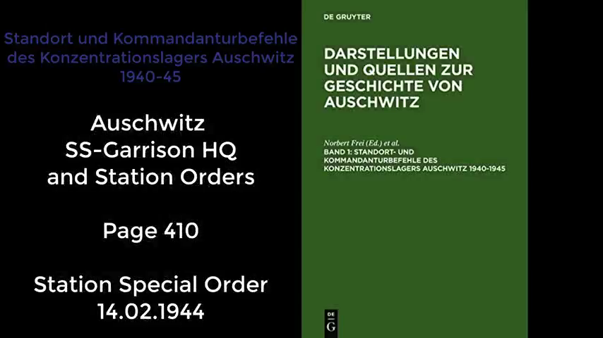 Auschwitz orders from 1944