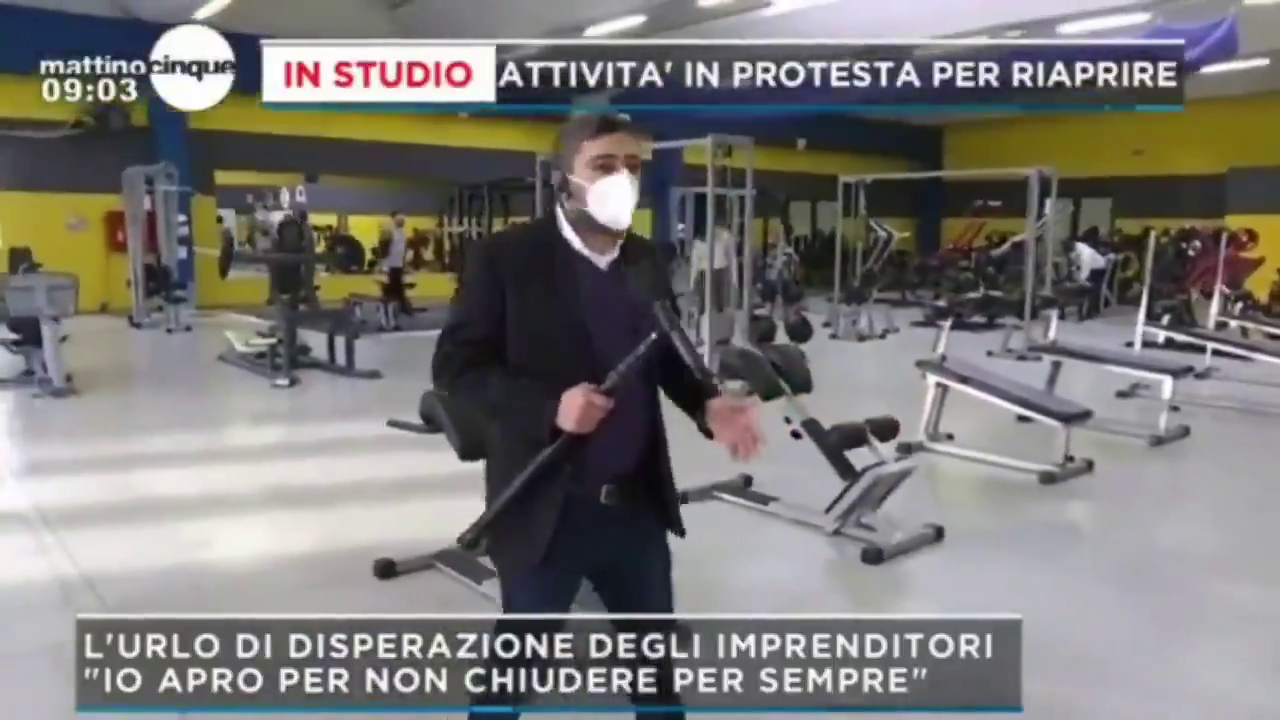 Gyms also join protest and open up in Italy