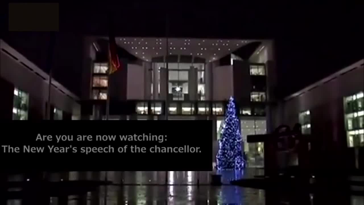 The Great Replacement - Angela Merkels New Years 2016 speech with Arabic subtitles for the Invaders