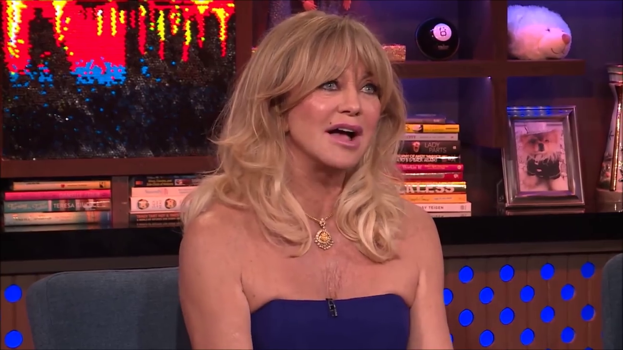 Goldie Hawn jokes about mutilating her sons penis.