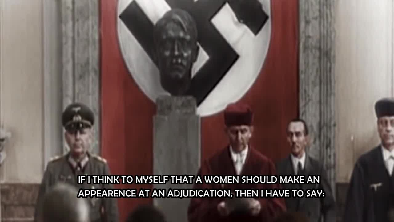 THIRD REICH - Hitler talking about women