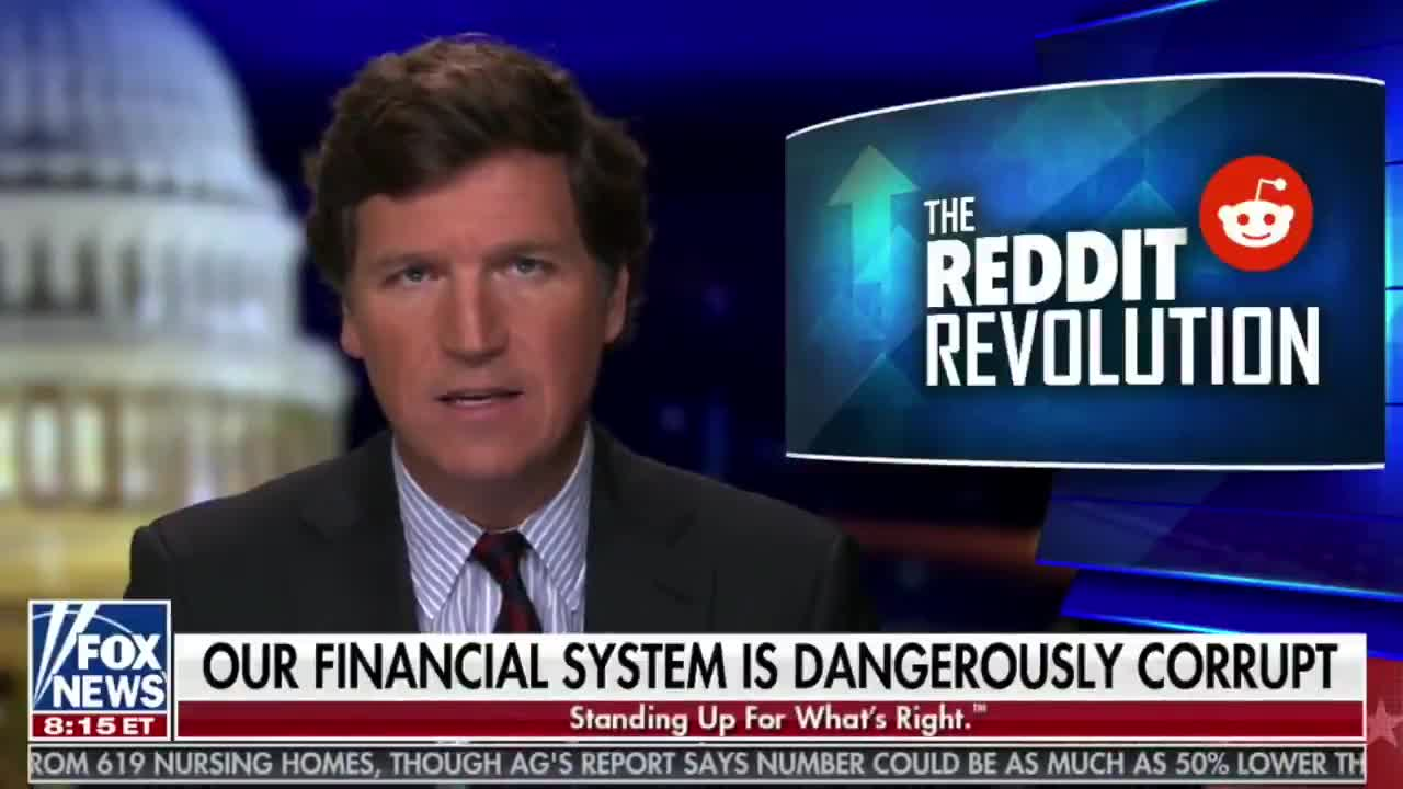"Full Tucker Carlson Interview w/ @stoolpresidente On The GameStop Stock Market Battle & Stock Market App Robinhood Pulling The Plug On Small Investors Making GameStop Trades. Dave: ""Somebody has to go to jail for this. This is intentional market manipulation."""
