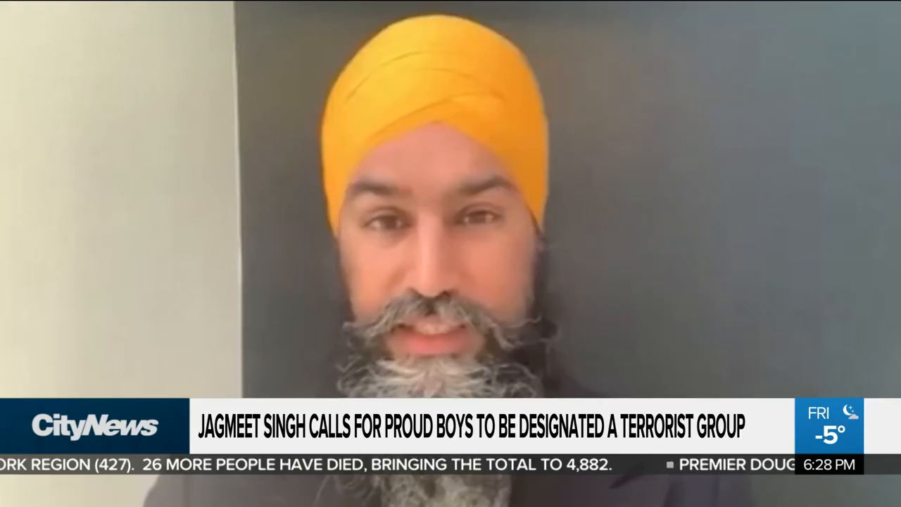 NDP Jagmeet Singh designates Proud Boys as a Terrorist Group while dark skinned Indian gangs beat up whites with impunity