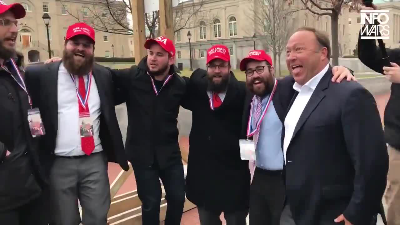 Alex Jones Gets High With The Five Dancing People He REFUSES to ever talk about