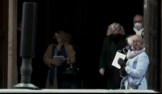 Biden's Crooked Brother Frank Trips While Leaving Inauguration Mass! :)