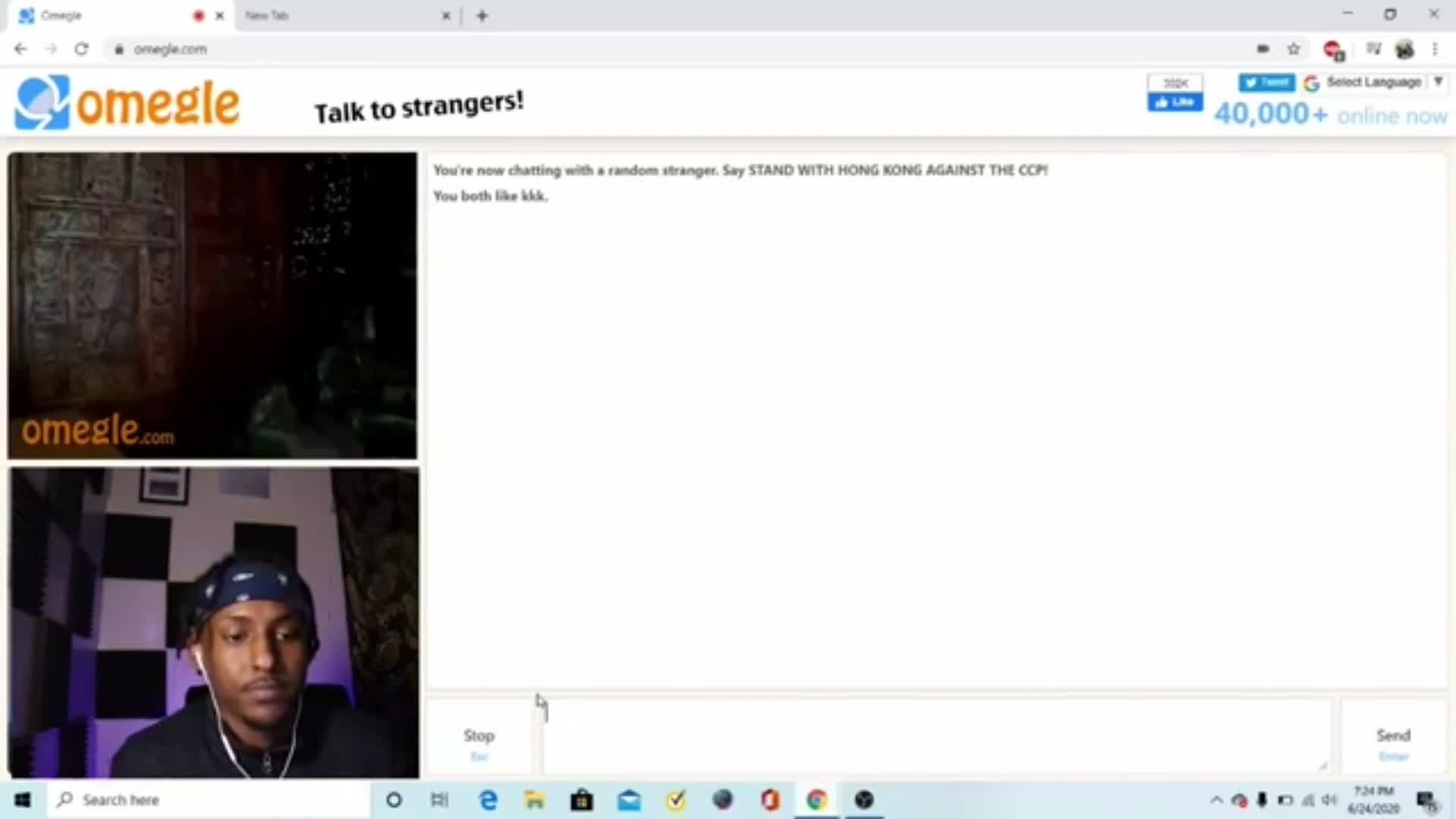 Black Guy Meets Based White Chad on Omegle