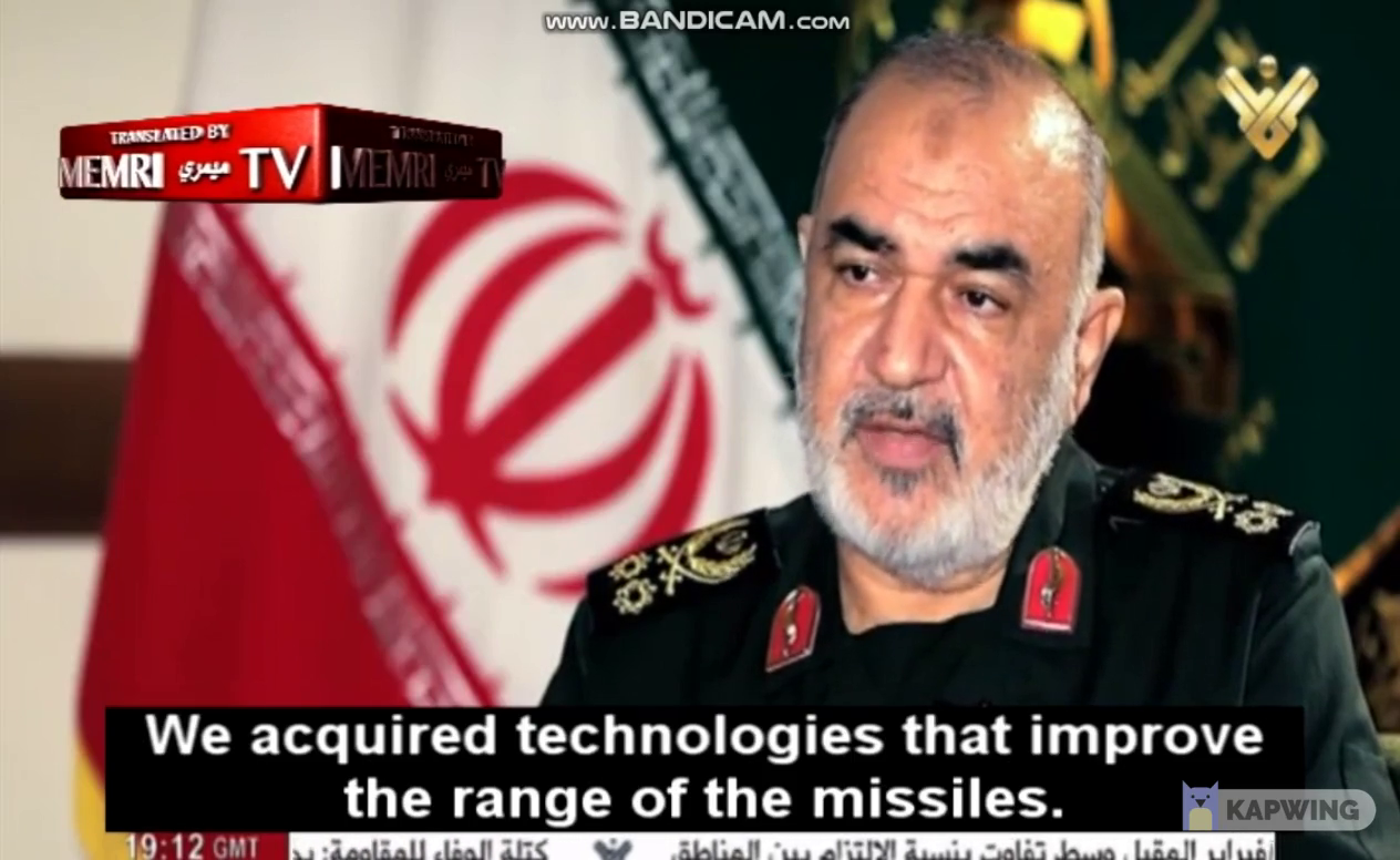 Iranian commander-in-chief admits Iran has no more space to save their missiles