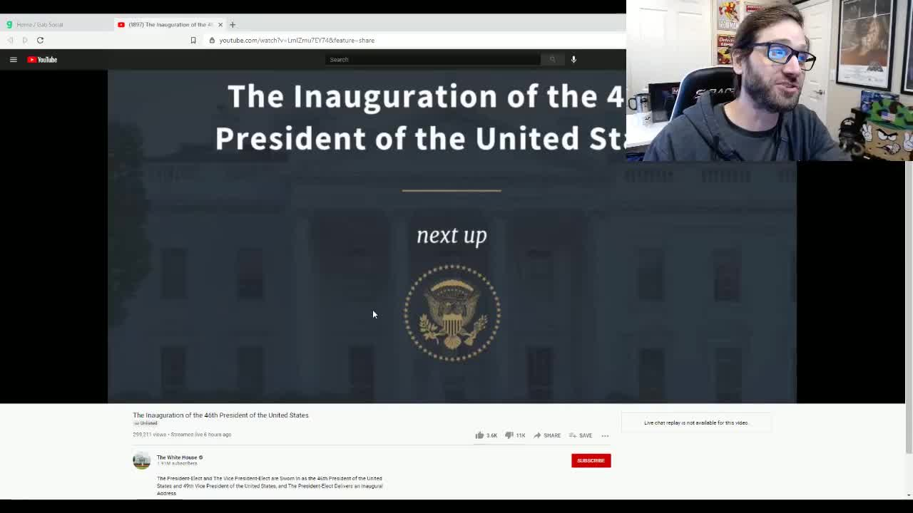 White House Hides Biden Inauguration Stream After Massive Downvotes by Salty Cracker