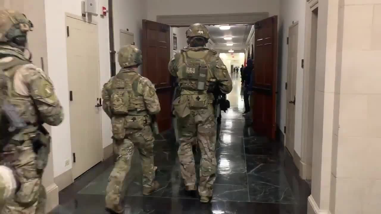 Heavily armed FBI SWAT units have now entered the Capitol complex.