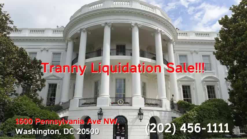 White House Tranny Liquidation Sale! This Sunday!