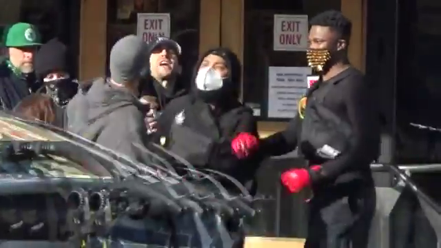 "BLM-antifa rioted outside Powells Books during the sixth day of protests calling for the book ""Unmasked"" to be banned.  Some of the antifa came armed with weapons during the street brawl in downtown Portland"